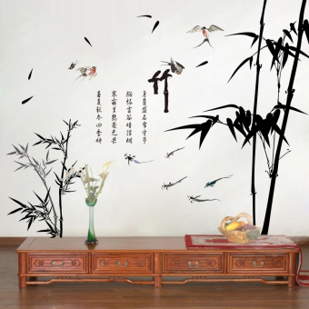 Chinese-style living room TV background wall wallpaper wall adhesive paper