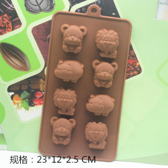 Chocolate DIY handmade soap cold system soap lion silicone cake pan