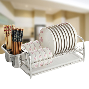 Chopsticks rack single layer dishes storage rack stainless steel dish rack