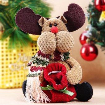 Christmas Candy Bag Tree Decor Ornaments Xmas Decor Santa Claus Snowman Reindeer - intl