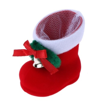 Christmas Decor Santa Claus Candy Boots Home Party Gift Red Boots (Red) - intl