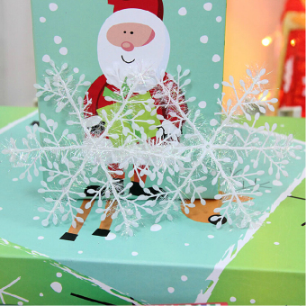 Christmas Decorations Supplies White Snow Snowflakes Hanging Ornaments 6cm Set of 60 - picture 3