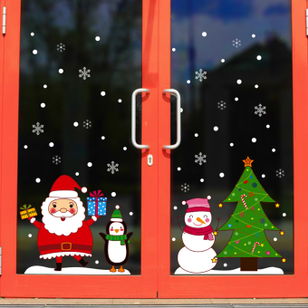 Christmas decorations wall sticker