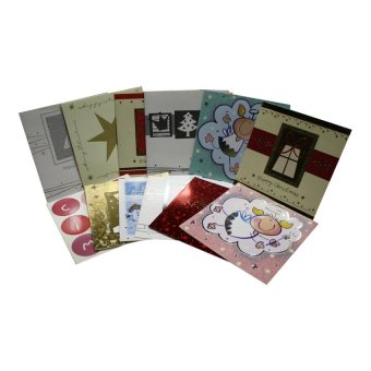 Christmas Greet Card Square Set of 12 (Assorted)