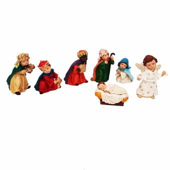Christmas Nativity 3.0 Set of 7 Figurine for the Holiday (Made ofFiberglass Resin) by Everything About Santa (Christmas decorationand gift suggestion) Religious Item