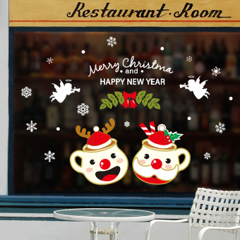 Christmas New Year wall stickers