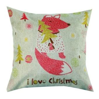 Christmas Pillow Case Sofa Waist Throw Cushion Cover Home Decor A - intl