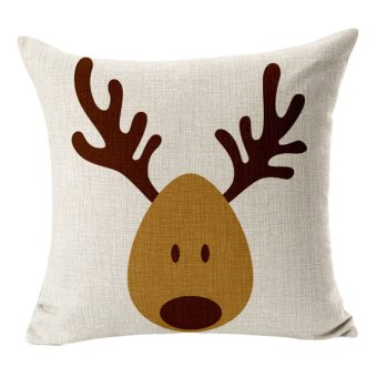 Christmas reindeer elk cotton pillowcase - Intl