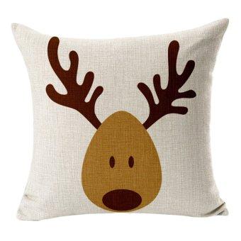 Christmas reindeer elk cotton pillowcase - Intl