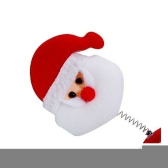 Christmas Santa Claus Head Band with Spring (Red/White) - intl - picture 2