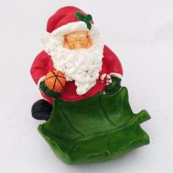 Christmas Santa Claus with Leaf Candy / Multipurpose Bowl Figurinefor the Holiday by Everything About Santa (Christmas decoration andgift suggestion)