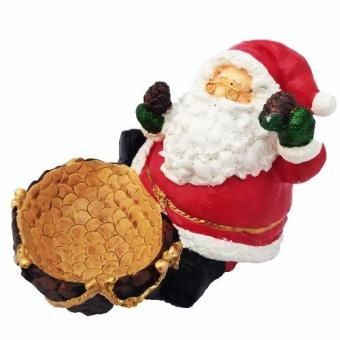 Christmas Santa Claus with Pine Cone Candy / Multipurpose BowlFigurine for the Holiday by Everything About Santa (Christmasdecoration and gift suggestion)