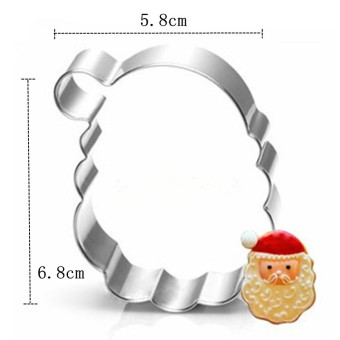 Christmas series stainless steel sugar cookie cutter