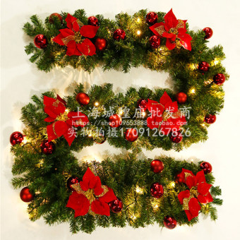 Christmas shining with light rattan Christmas tree wreath Christmas rattan