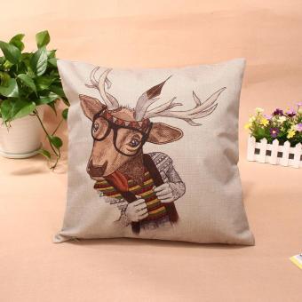 Christmas Throw Home Decorative Cotton Linen Pillow 006 - picture 2