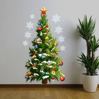 Christmas Tree Art Decal Wall Sticker Removable Home Decoration Room Decoration
