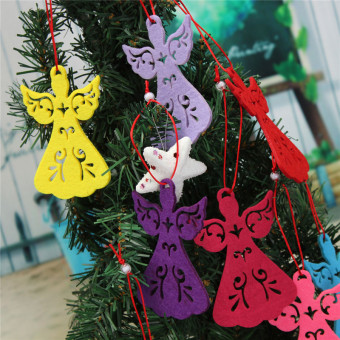 Christmas Tree Decoration Angel Pendant Hanging Xmas Home Party Ornament Gift Red