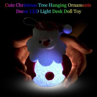 Christmas Tree Hanging Ornaments Decor LED Light Doll Toy #Santa Claus - intl - 2