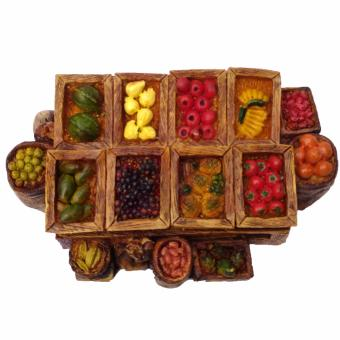 Christmas Village Nativity Fruit Stand Figurine for the Holiday (Made of Fiberglass Resin) by Everything About Santa (Christmas decoration and gift suggestion) - picture 2