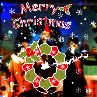 Christmas window adhesive paper Christmas decoration wall sticker