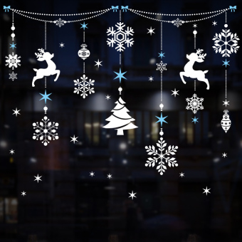 Christmas window decoration products shop window grilles