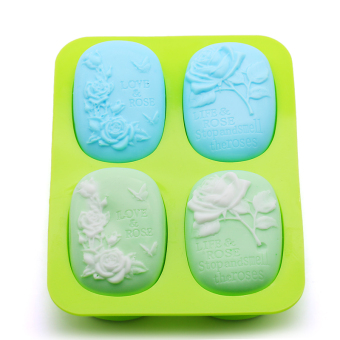 Classic DIY handmade soap rose homemade soap silicone Mold