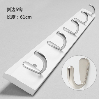 Clothes adhesive hook door hanging clothes hook solid wood hanger