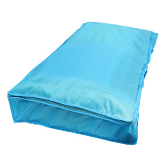 Clothes Quilt Bedding Duvet Zipped Handles Laundry(Blue)(M)