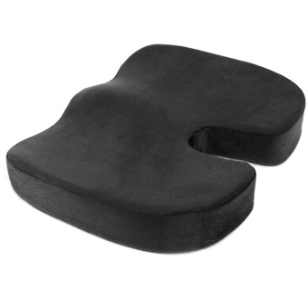 Coccyx Orthopedic Memory Foam Seat Cushion for Chair Car Office Home(Black)