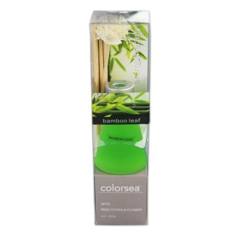 Color Sea Bamboo Leaf Natural Aroma with Reed Sticks and Flower Diffuser - picture 2