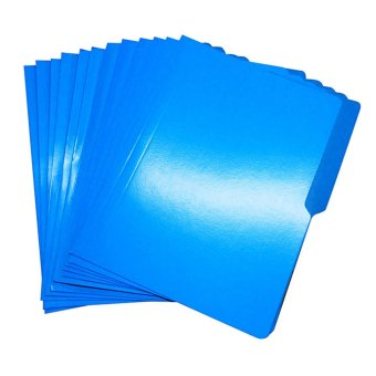 Colored Folder - Short Set of 12 (Blue)