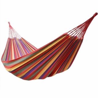Colorful Canvas Hammock Duyan Hanging Sleeping Bed (Red)