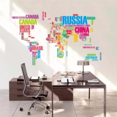 Philippines sunyoo diy colorful travel the world map removable colorful english letter world map wall sticker removable pvc vinyl decal art mural home decorative picture gumiabroncs Images