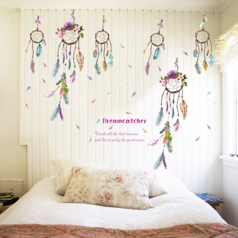 Colorful Feather Sitting Room Wall Sticker