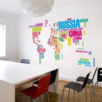 Where to buy colorful letters world map wall stickers living room colorful letters world map wall stickers living room homedecorations creative pvc decal mural art zooyoo035 diy office wallart intl in product galerie gumiabroncs Image collections