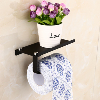 Colorful stainless steel punched Roll Box tissue rack