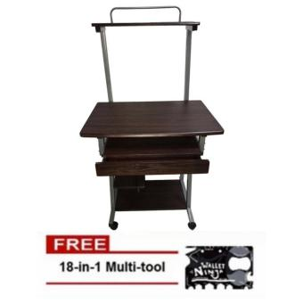 Computer Table With Drawer and Printer Stand (Wenge) With Free Wallet Ninja