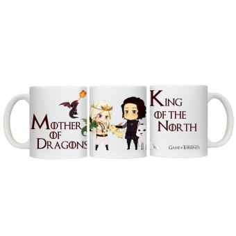 CopyCut Couple Cute Inspirational Statement Mug Game of Thrones Khaleesi John Snow - Gift Set