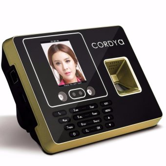 Cordya F30 LCD Display USB Biometric Fingerprint Attendance CheckTime Clock Recorder (Black/Gold)