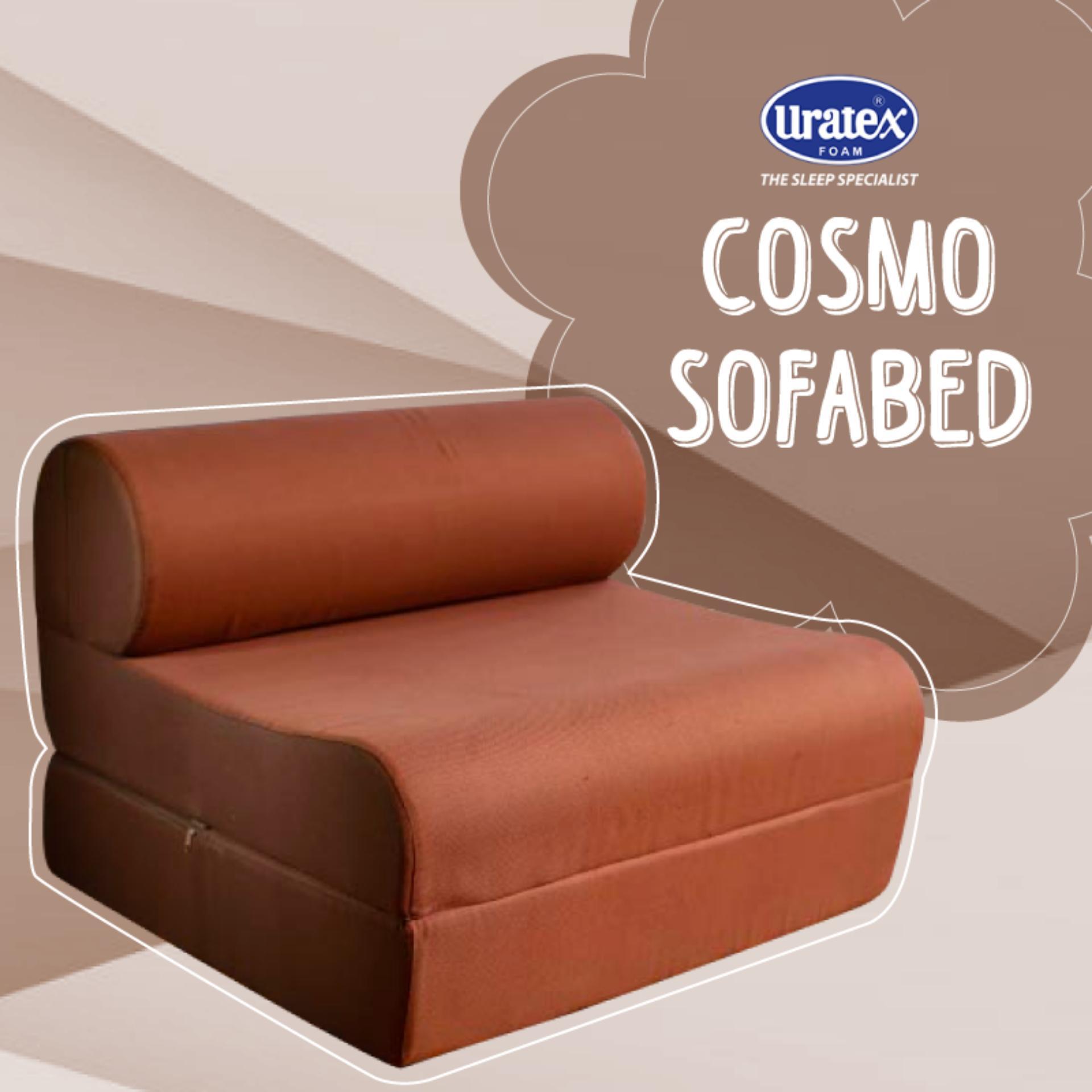 cosmo sofa bed 7.5x36x75 brown | lazada ph