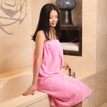 Cotton boob tube top beauty salon Bathrobe Bath skirt