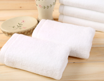 Cotton hotel bath towel white towel