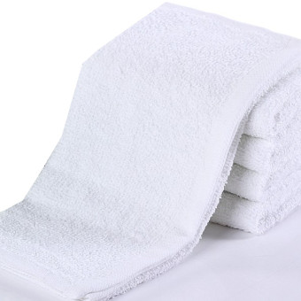 Cotton Hotel foot white towel