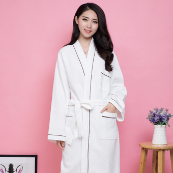 Cotton star hotel waffle bathrobe Terry bathrobe