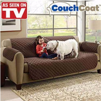 Couch Coat Reversible Washable Sofa Cover (Brown)