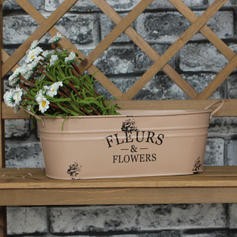 Country American flower metal Bucket bucket