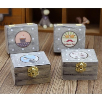 Country Wooden Machine Music Box Presents The Music Box For Christmas Valentine'S Day - intl - picture 2