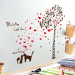 Couple's cartoon entrance corridor decorative painting adhesive paper wall stickers