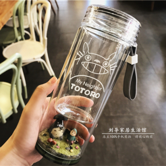 Couple's cute micro landscape Totoro cup