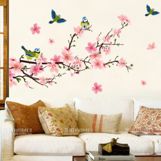 Cozy Bedroom Magpie Peach Blossom Wall Sticker Part 91